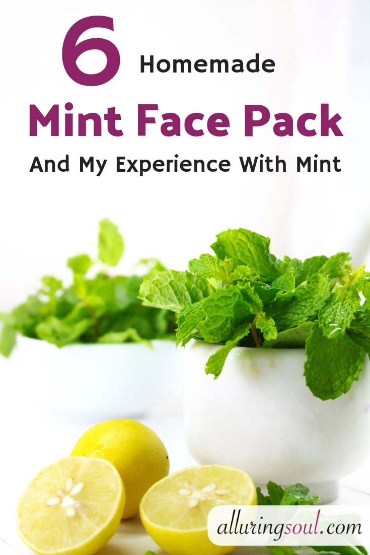 homemade mint face pack
