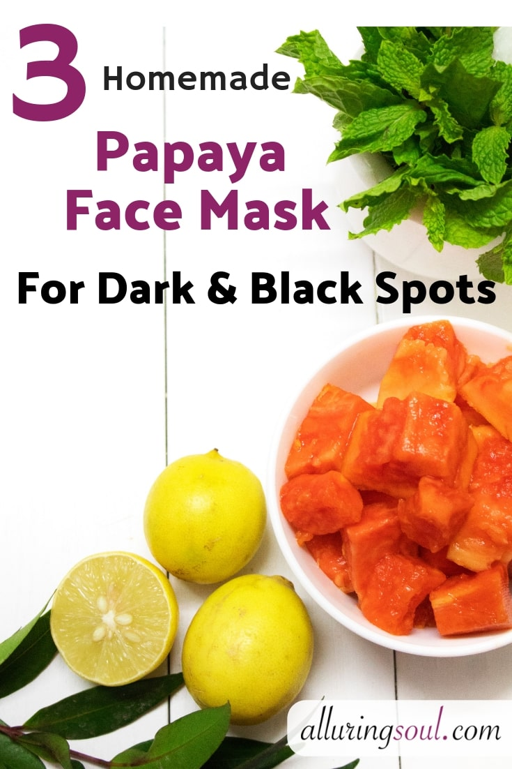 papaya face pack for dark and black spots