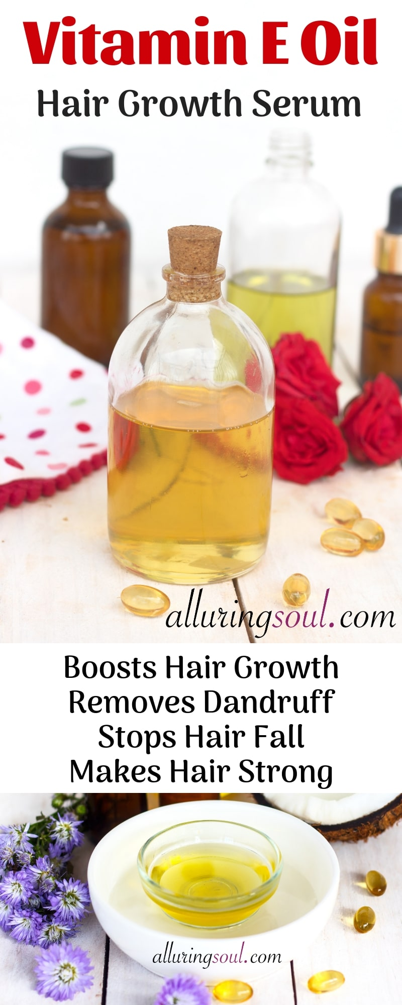 Vitamin E hair serum