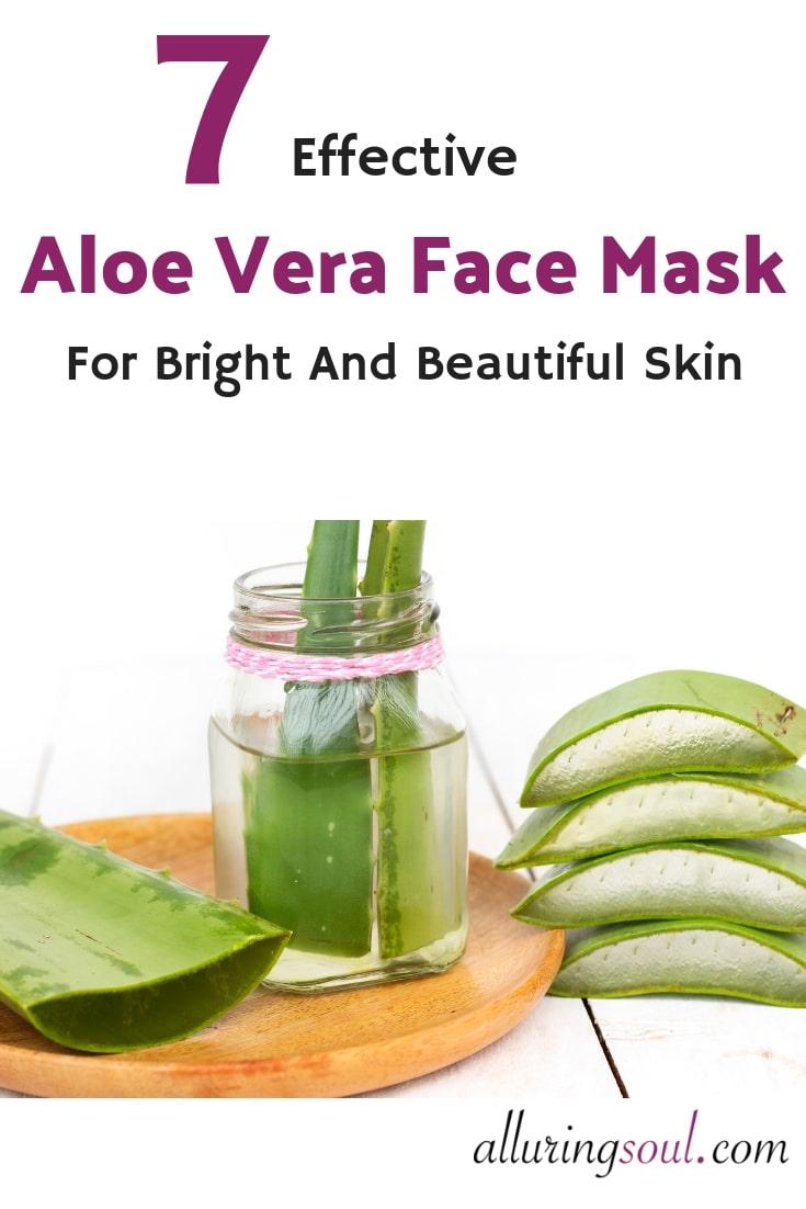 aloe vera face mask