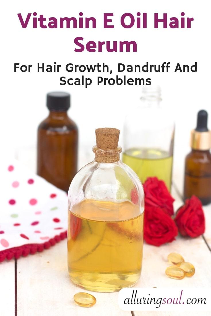 Vitamin E hair serum