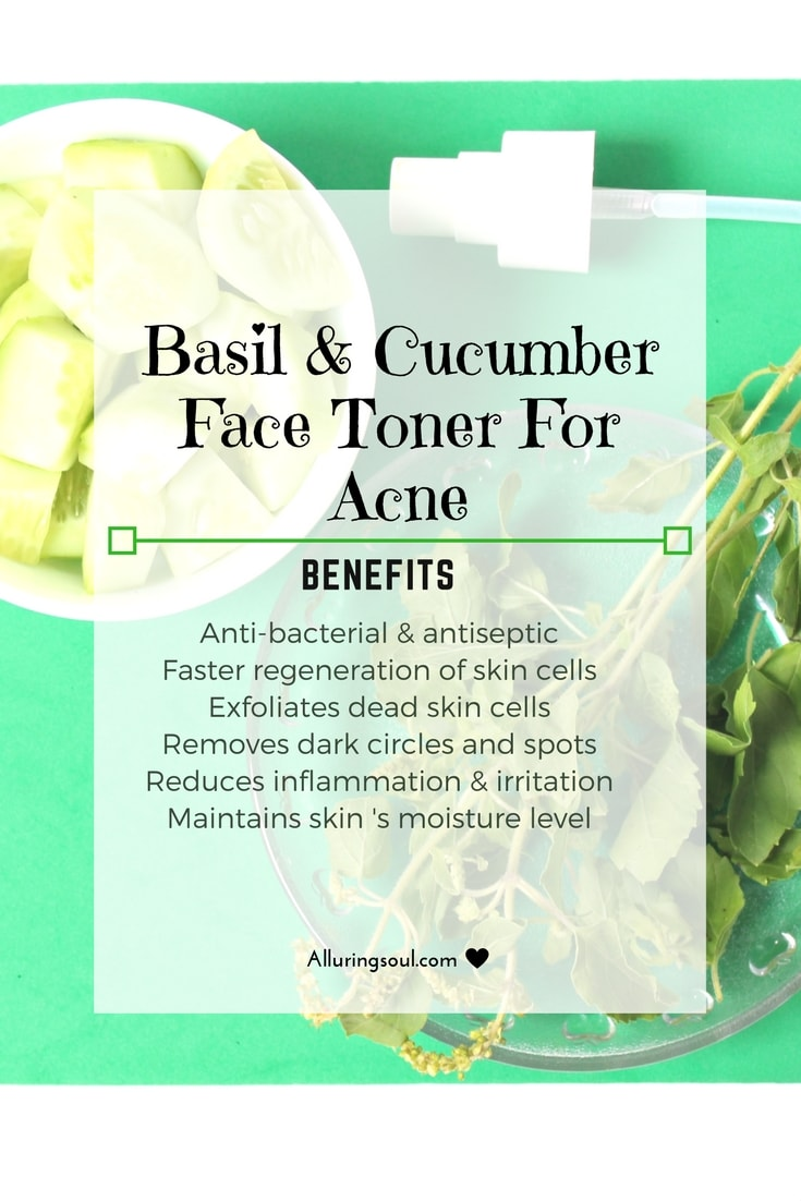 cooling cucumber face toner for acne