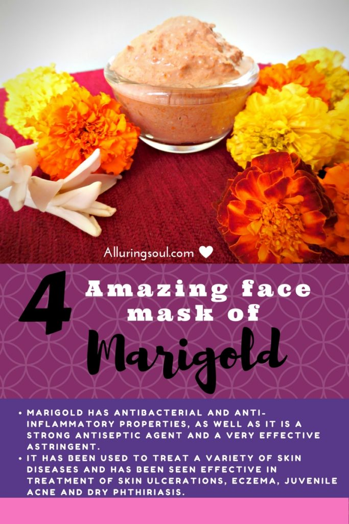 marigold face mask