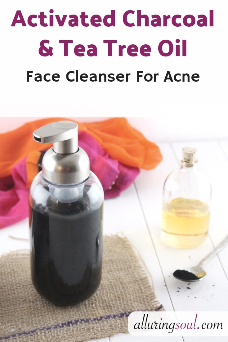 Activated Charcoal & Tea Tree Oil Face Cleanser For Acne