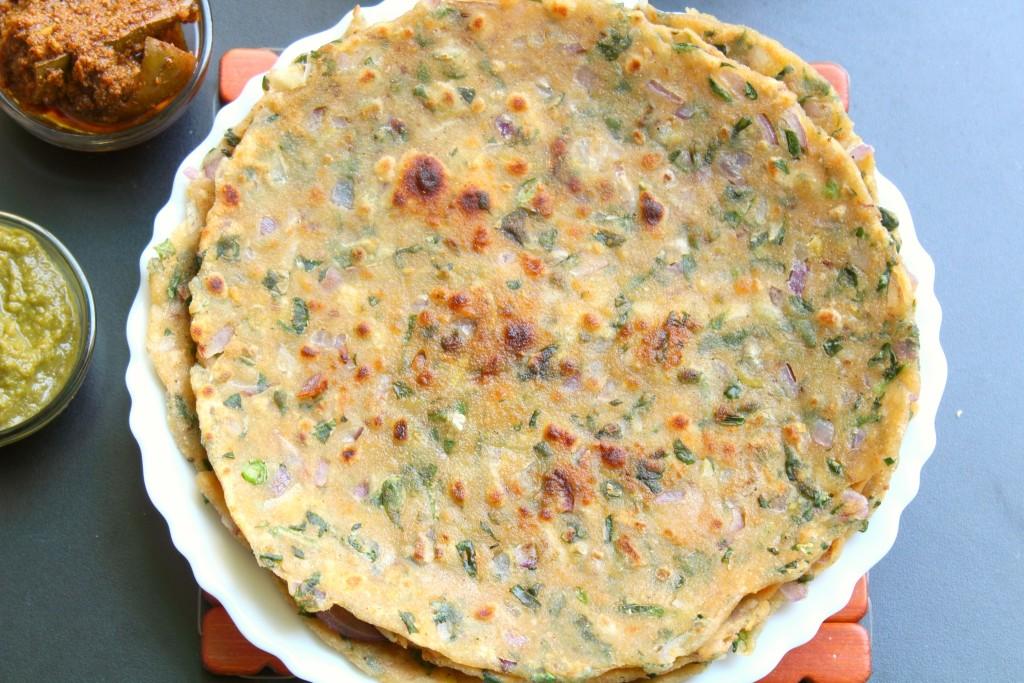 healthy fenugreek flatbread