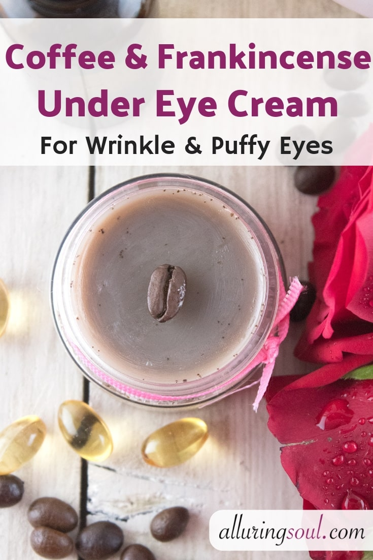 coffee and frankincense under eye cream