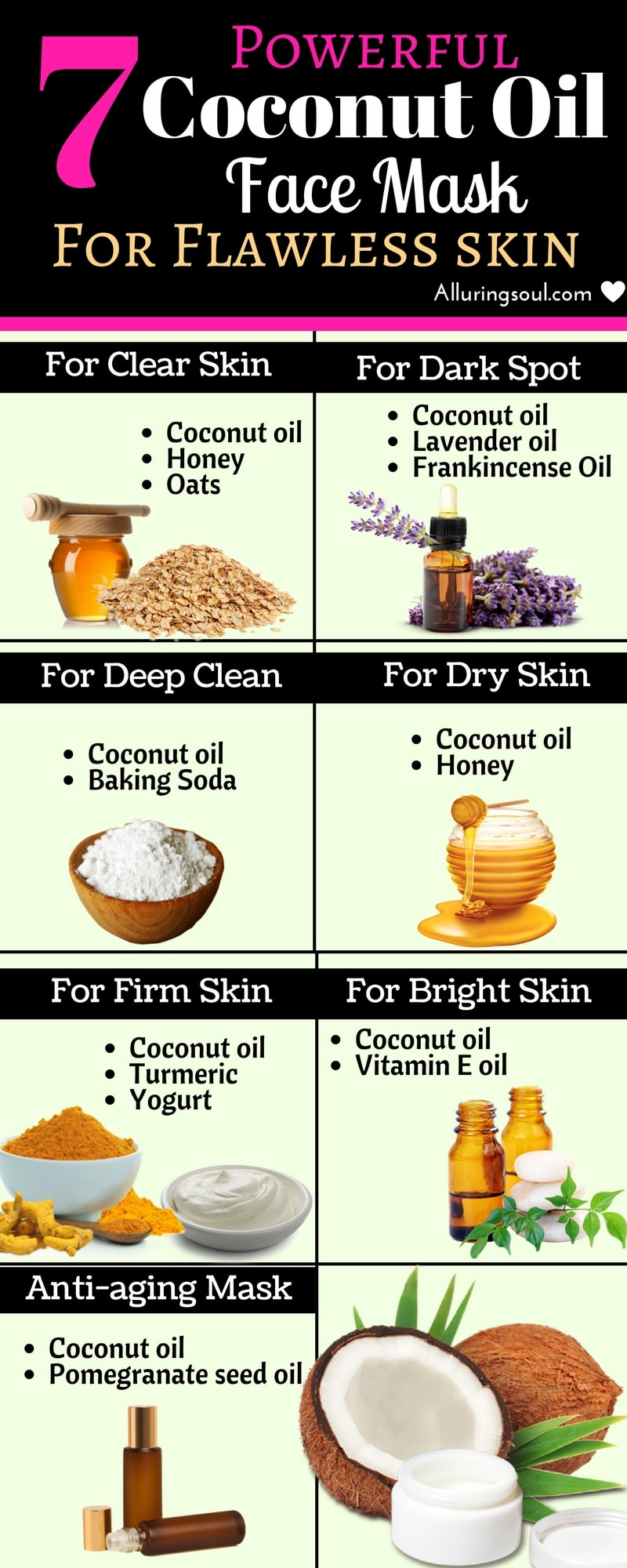 7 Powerful Coconut Oil Face Mask For