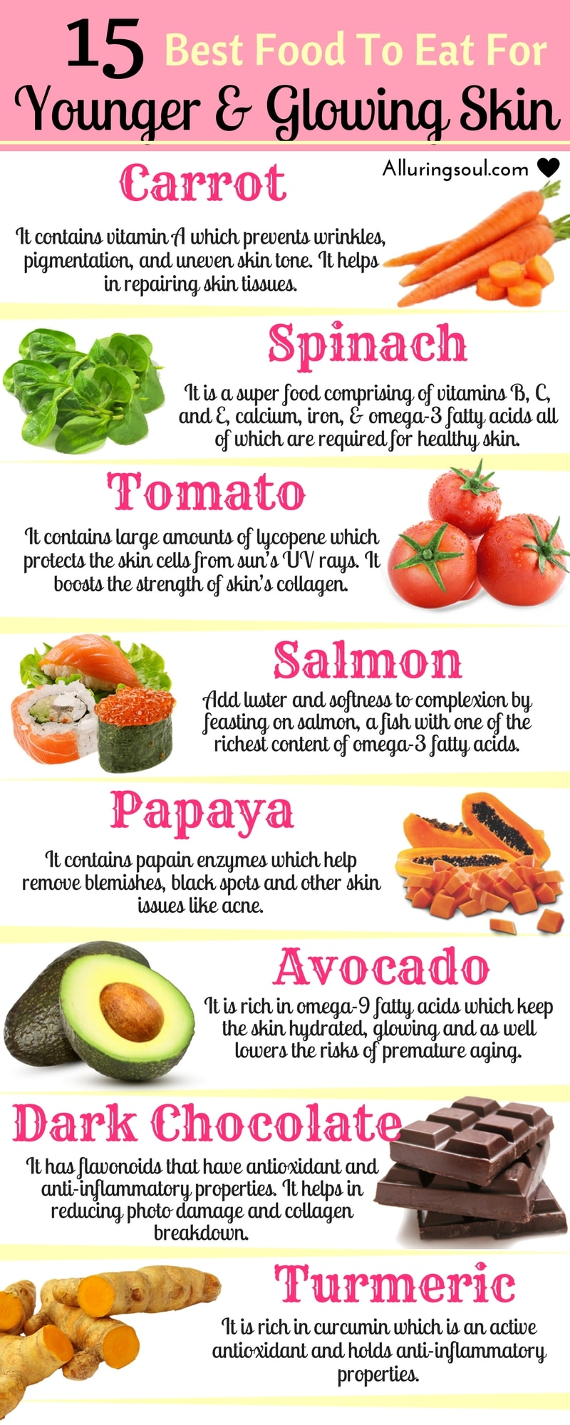 11 Best Foods For Younger And Glowing Skin  Alluring Soul