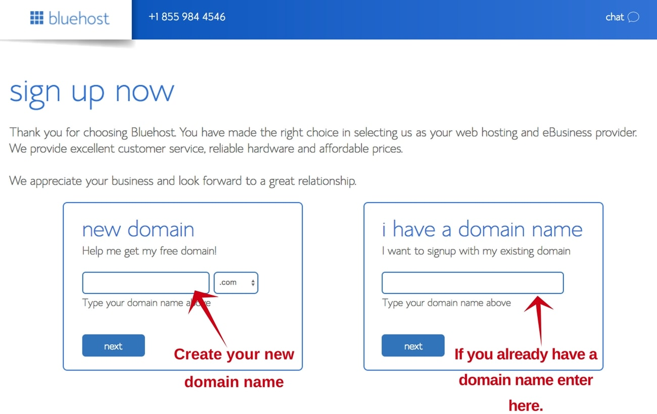 Bluehost-step-3