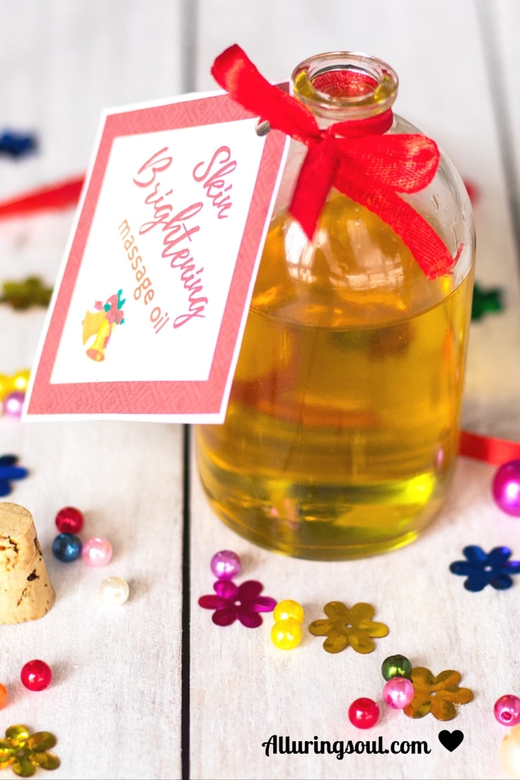 skin brightening body massage oil