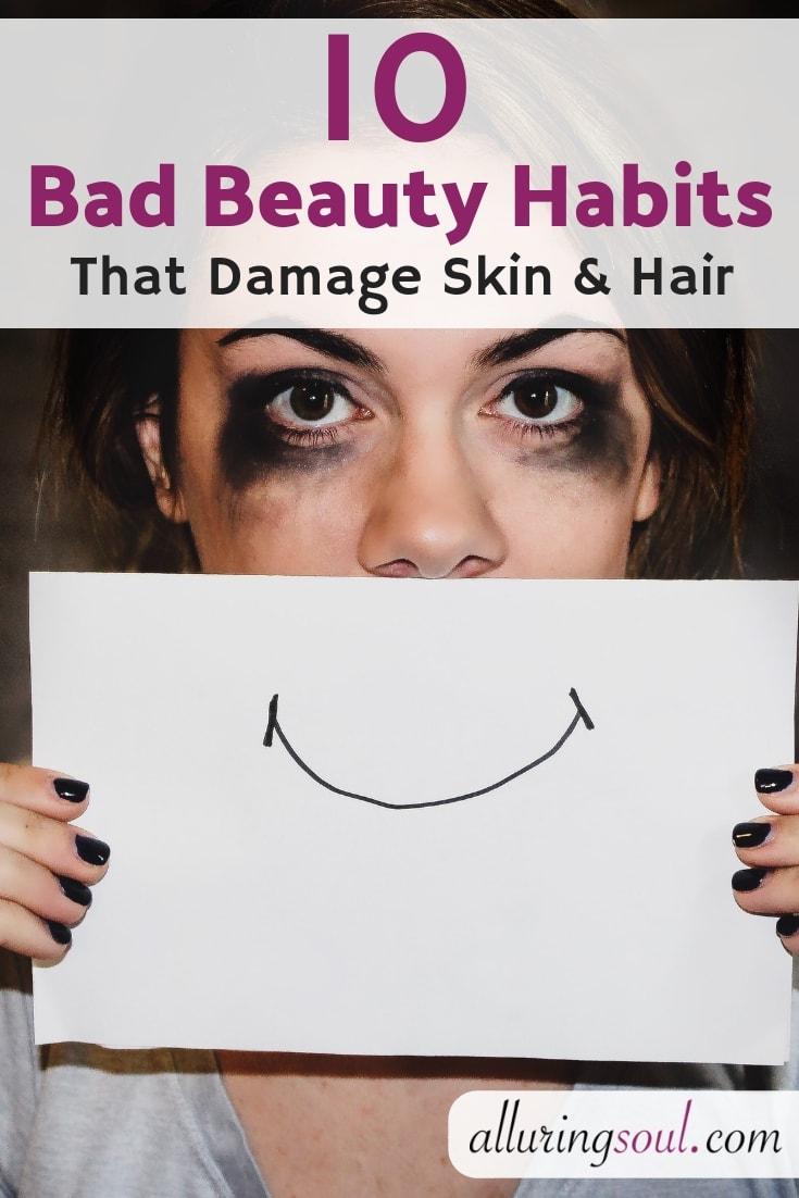 bad beauty habits