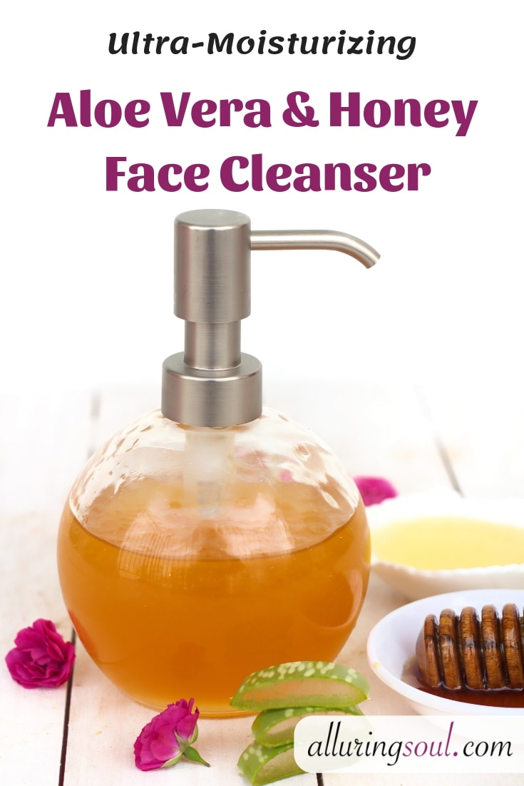 aloe vera and honey face cleanser