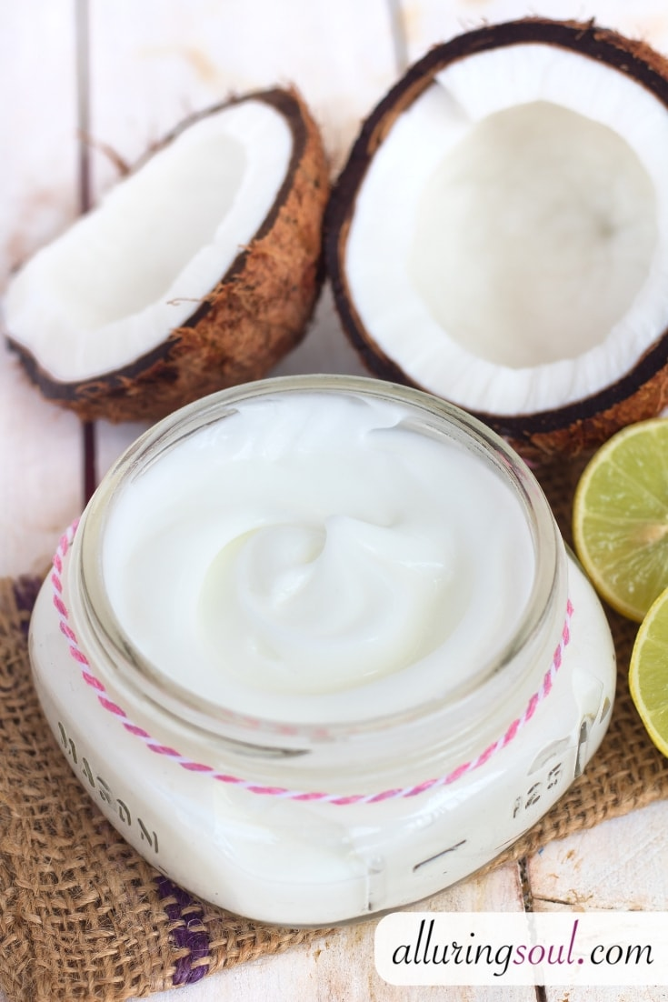 lemon and coconut oil body lotion