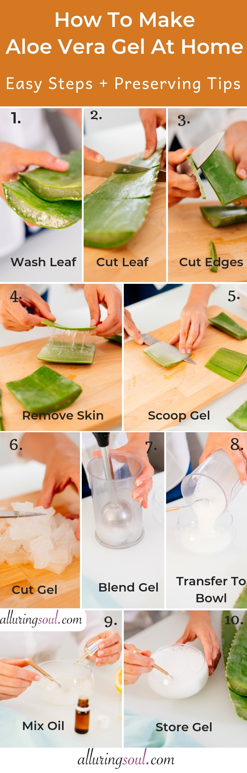 how to make aloe vera gel at home