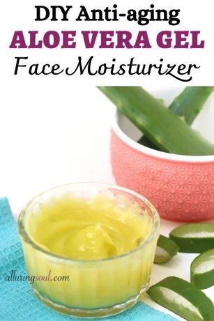 DIY Anti-aging Aloe Vera Face Moisturizer